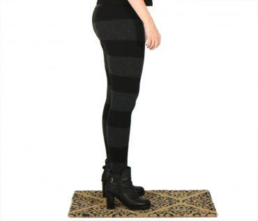 Vietto merino wool stripe leggings black-grey