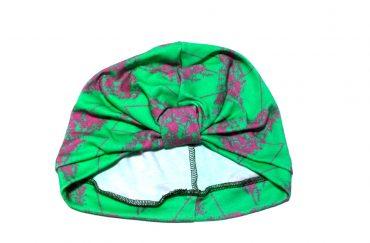 Vietto turbaanimyssy vihreä-pinkki