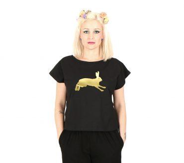 Vietto musta kultainen rusakko t-paita