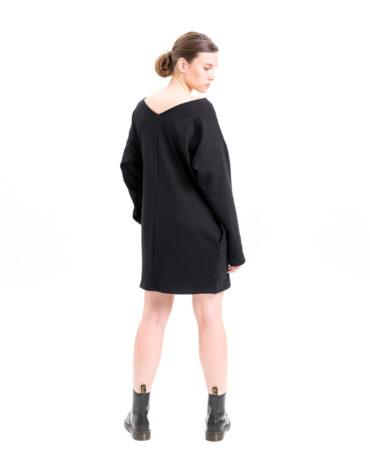 Vietto Urban Art deco mekko musta & kulta takaa