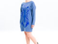 Vietto Urban Art deco mekko sininen