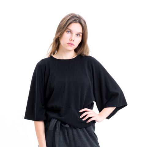 Vietto merinovillainen musta kimonopaita