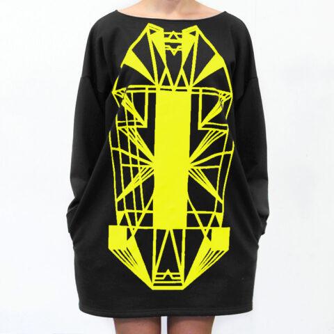 Vietto Urban Art deco mekko keltainen
